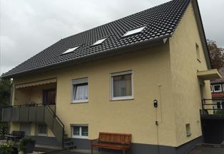 Sanierung, Fassade in Putz